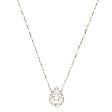 offre spéciale choisir authentique Excellente qualité Swarovski Collier Sparkling Dance Flower, blanc, plaqué or ...