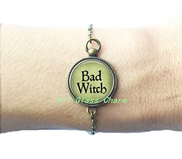 BAD WITCH Bracelet Bracelets - Witch Bracelets - Evil Witch Jewelry - Witch Costume Jewelry -  sc 1 st  Amazon.com : witch costume jewelry  - Germanpascual.Com