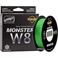 SeaKnight Monster W8 8 Strands Braided Lines 300M/500M Super Smooth PE Braid Multifilament Saltwater Fishing Lines for…