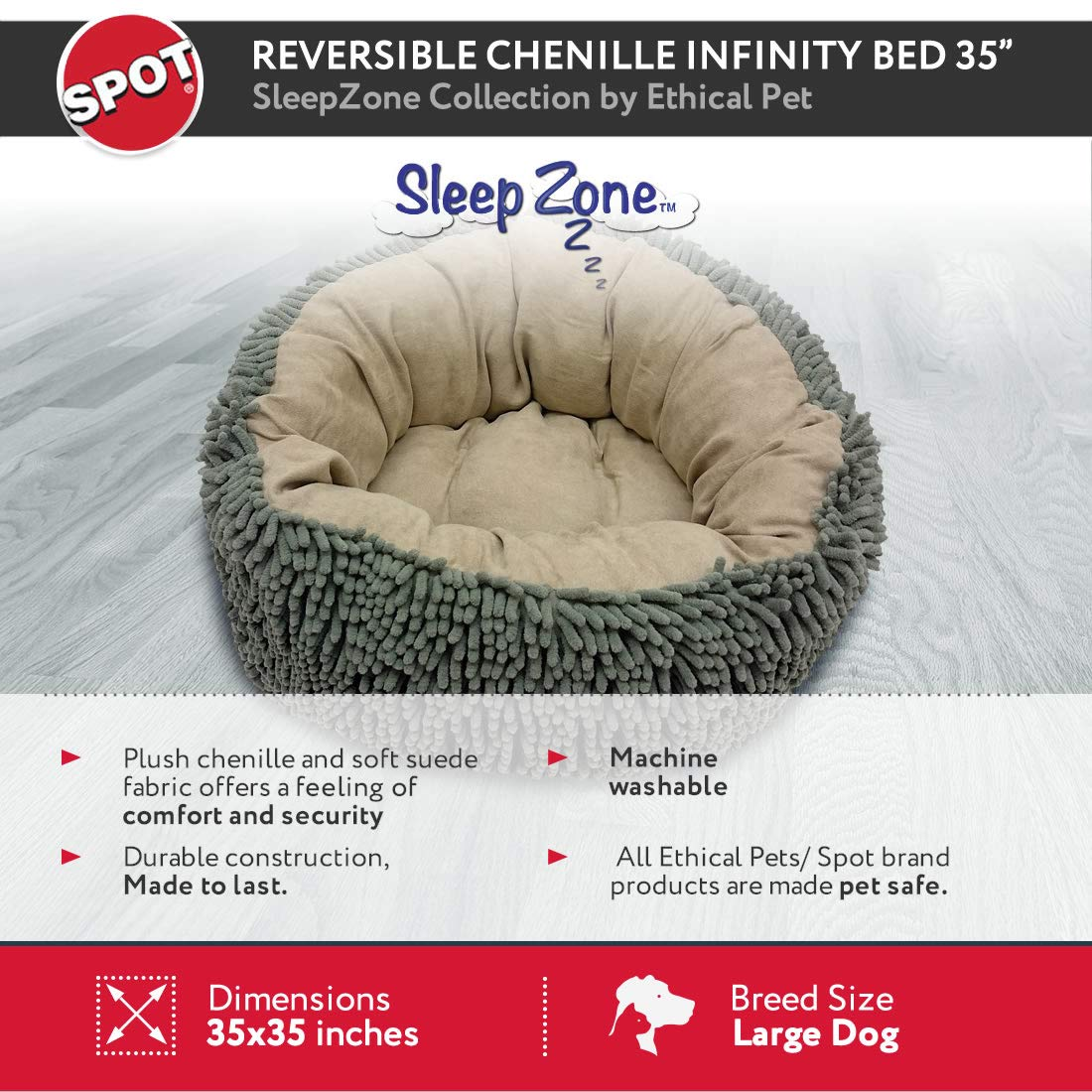Amazon.com: Ética mascotas sueño Zone Reversible infinity ...