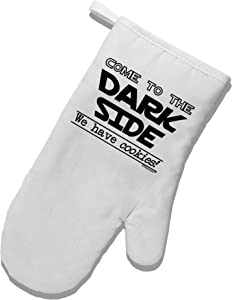 TOOLOUD Come to The Dark Side - Cookies White Printed Fabric Oven Mitt