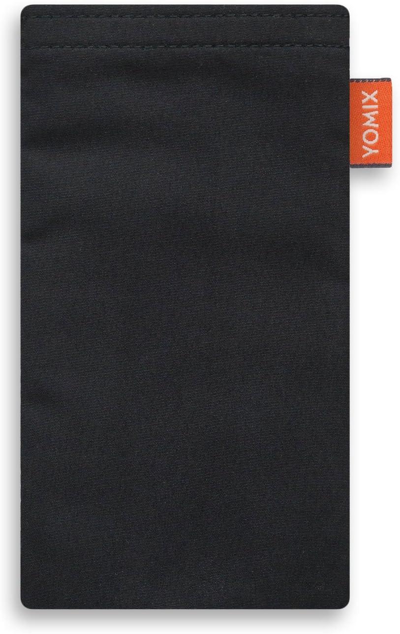H/ülle mit Reinigungsfunktion Made in Germany YOMIX Emma mit Strahlenschutz Handytasche Tasche f/ür Samsung Galaxy S9 DUOS aus beschichteter Baumwolle mit Microfaserinnenfutter