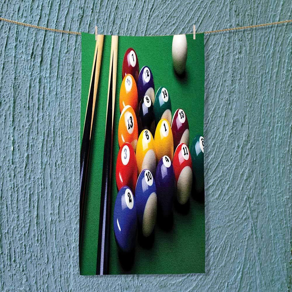 SOCOMIMI Exercise Towel Billiard Pool Balls Arrangement Snooker Contest Beginning Entertainment Game Picture Machine Washable