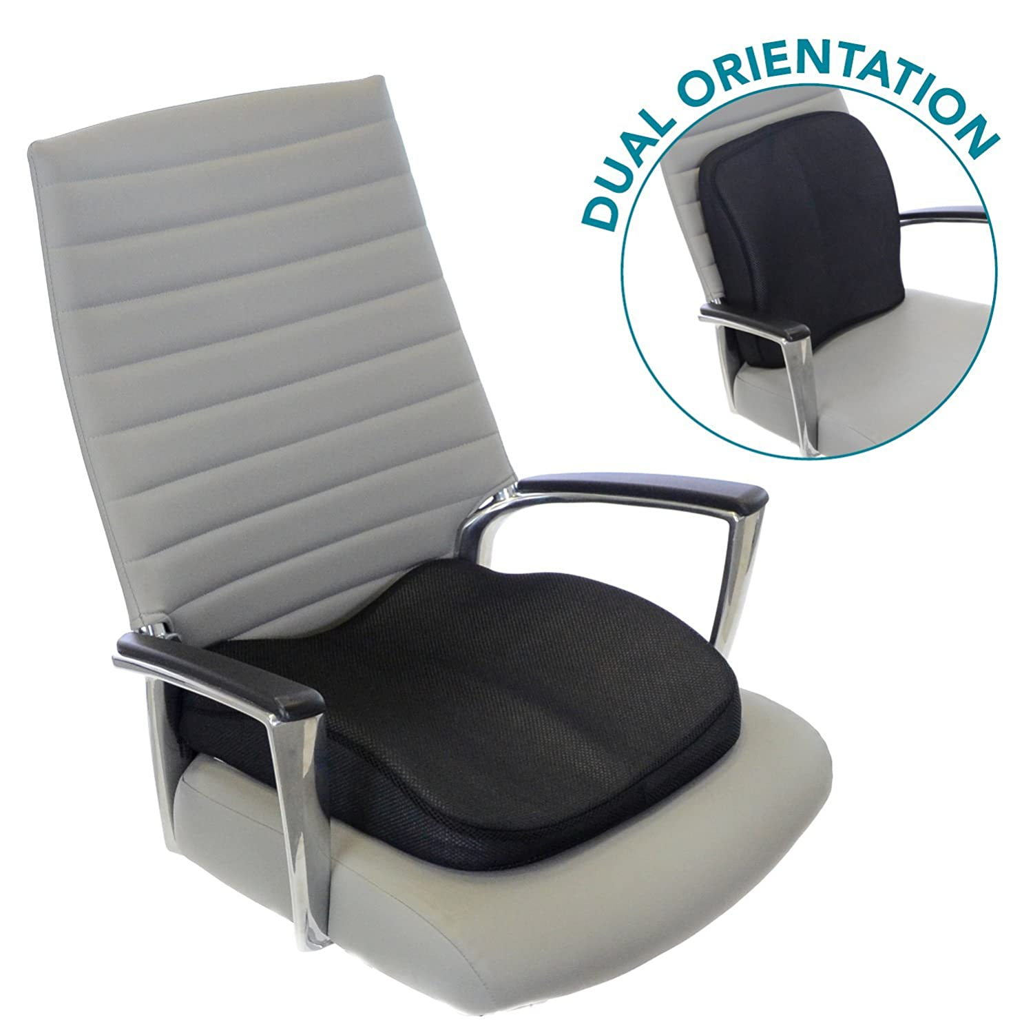 Amazon Milliard Memory Foam Lumbar Seat Cushion Dual Use