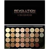 Maquillaje Revolution, sombra de ojos Ultra 32, paleta más allá de defectos