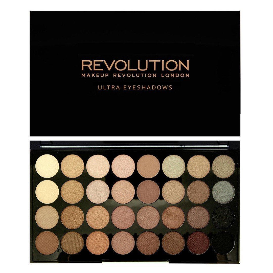 Maquillaje Revolution, sombra de ojos Ultra 32, paleta más allá de defectos Makeup Revolution 17859
