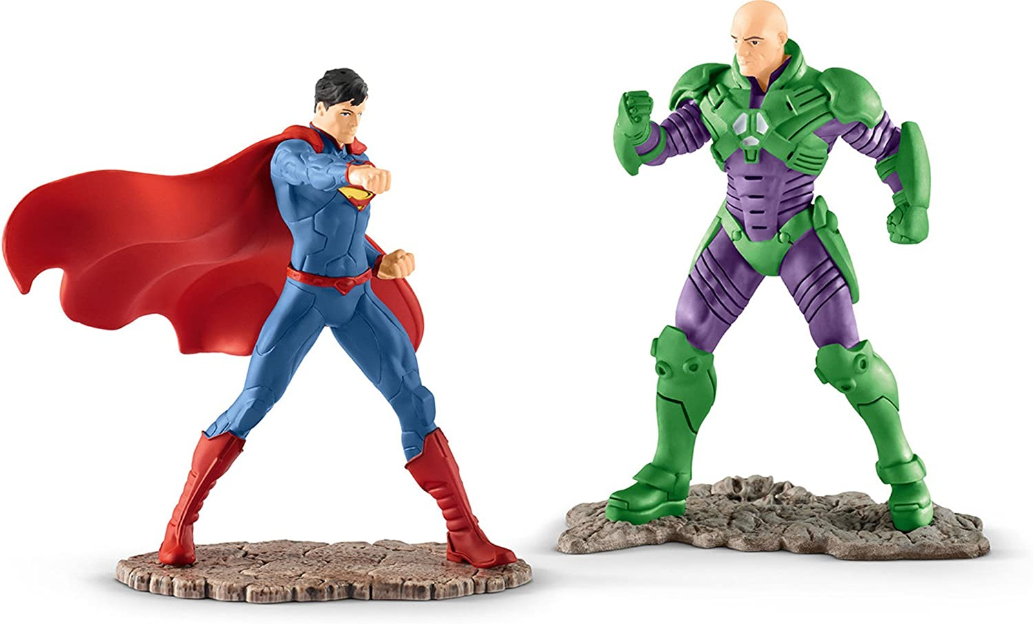 Schleich North America Superman vs Lex Luthor Scenery Pack Toy Figure 22541