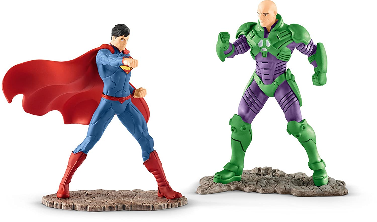 Schleich North America Superman vs Lex Luthor Scenery Pack Toy Figure