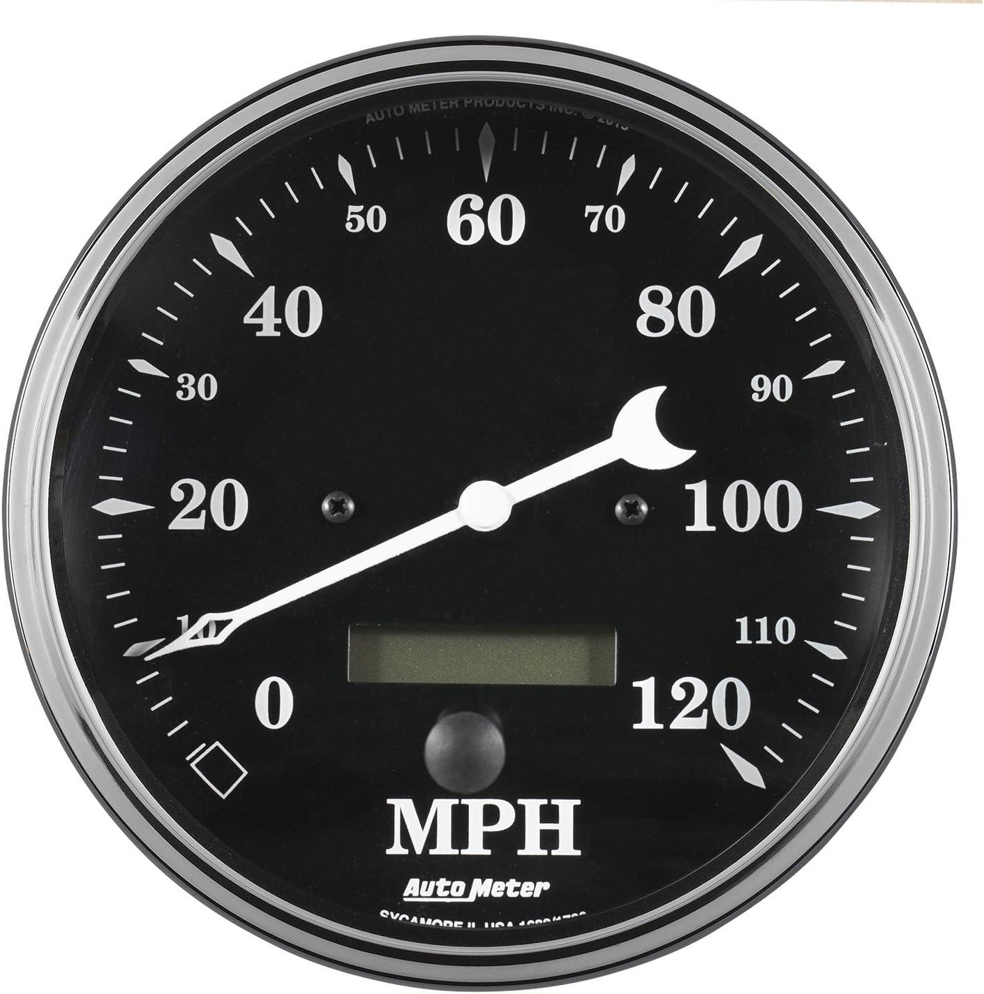 W//LCD Odo Prog Speedo Elec Auto Meter AutoMeter 1780 Gauge Old TYME Black 120Mph 3 3//8