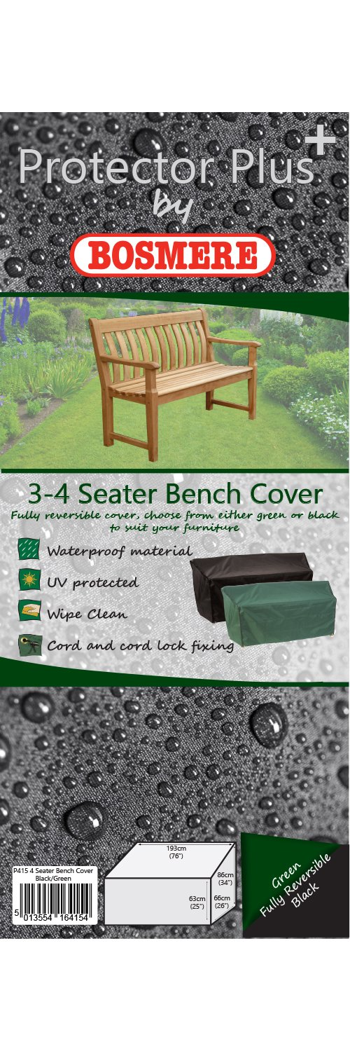 Bosmere P055 Premier 4 Seat Bench Seat Green Cover Bosmere Products Ltd