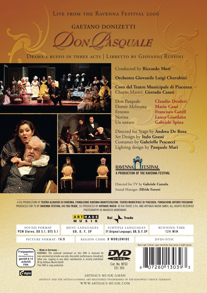Amazon Donizetti Don Pasquale [DVD Video] Juan Francisco