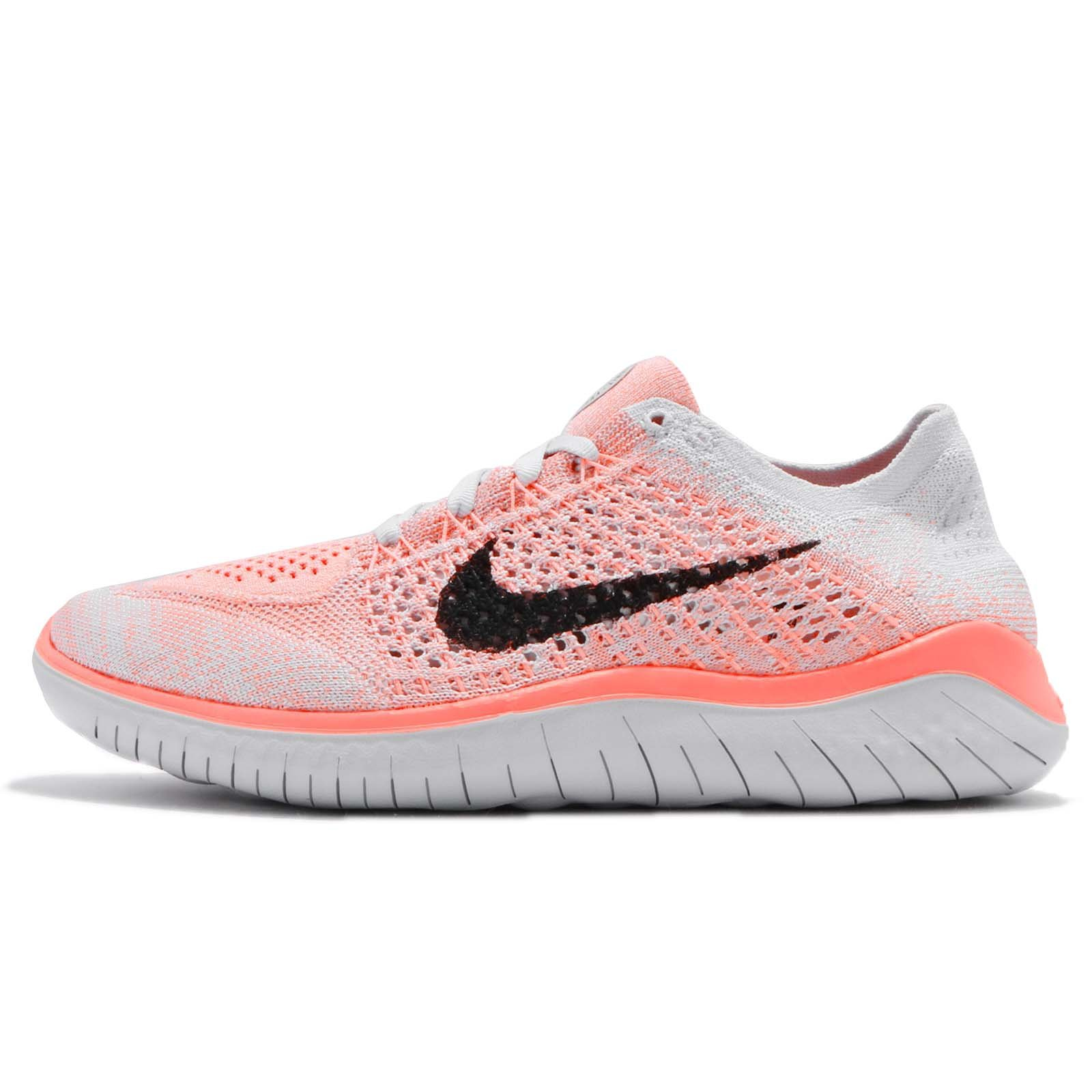 852e10b58f0bd Galleon - Nike Women s Free RN Flyknit 2018 Crimson Pulse Black-Pure  Platinum 10.0