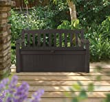 Keter Eden 70 Gallon Storage Bench Deck Box for