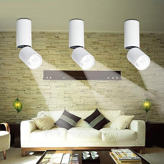 Led Modern Deckenleuchte Rund 360 Drehung Deckenlampe Strahler