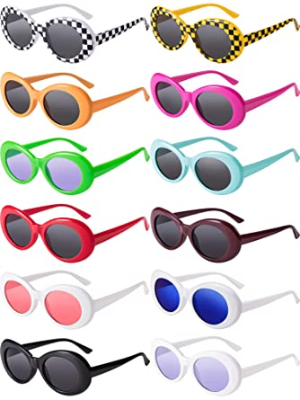 Blulu 12 Pares de Gafas Ovales Gafas de Sol de Lentes ...