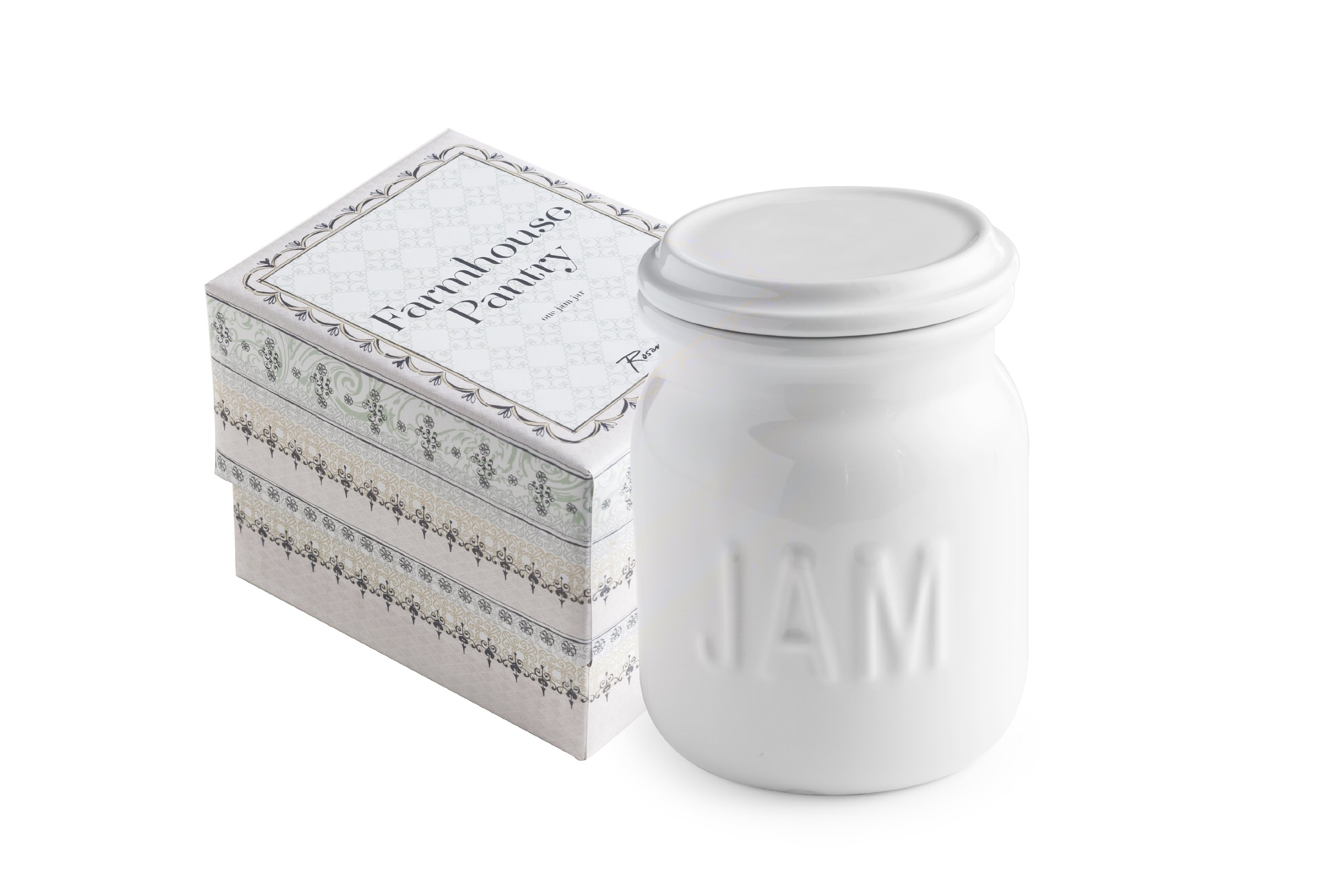 Rosanna 94974 Farmhouse Pantry Jam Jar, White