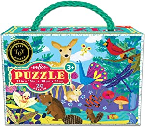 eeBoo Life on Earth Puzzle for Kids, 20 Pieces
