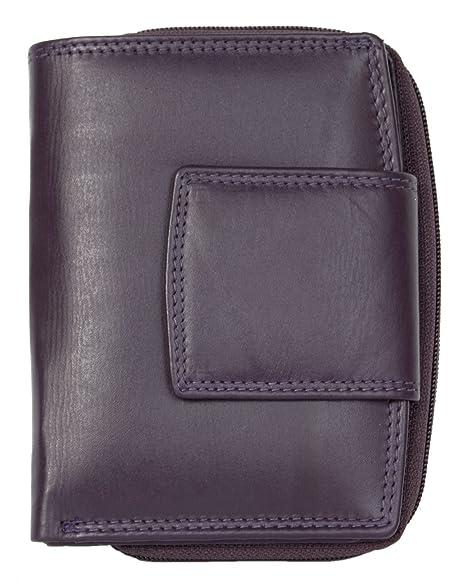 b25964e52b8d4 Damen Lila Qualität Leder Portemonnaie ohne Logos oder Markierungen ...