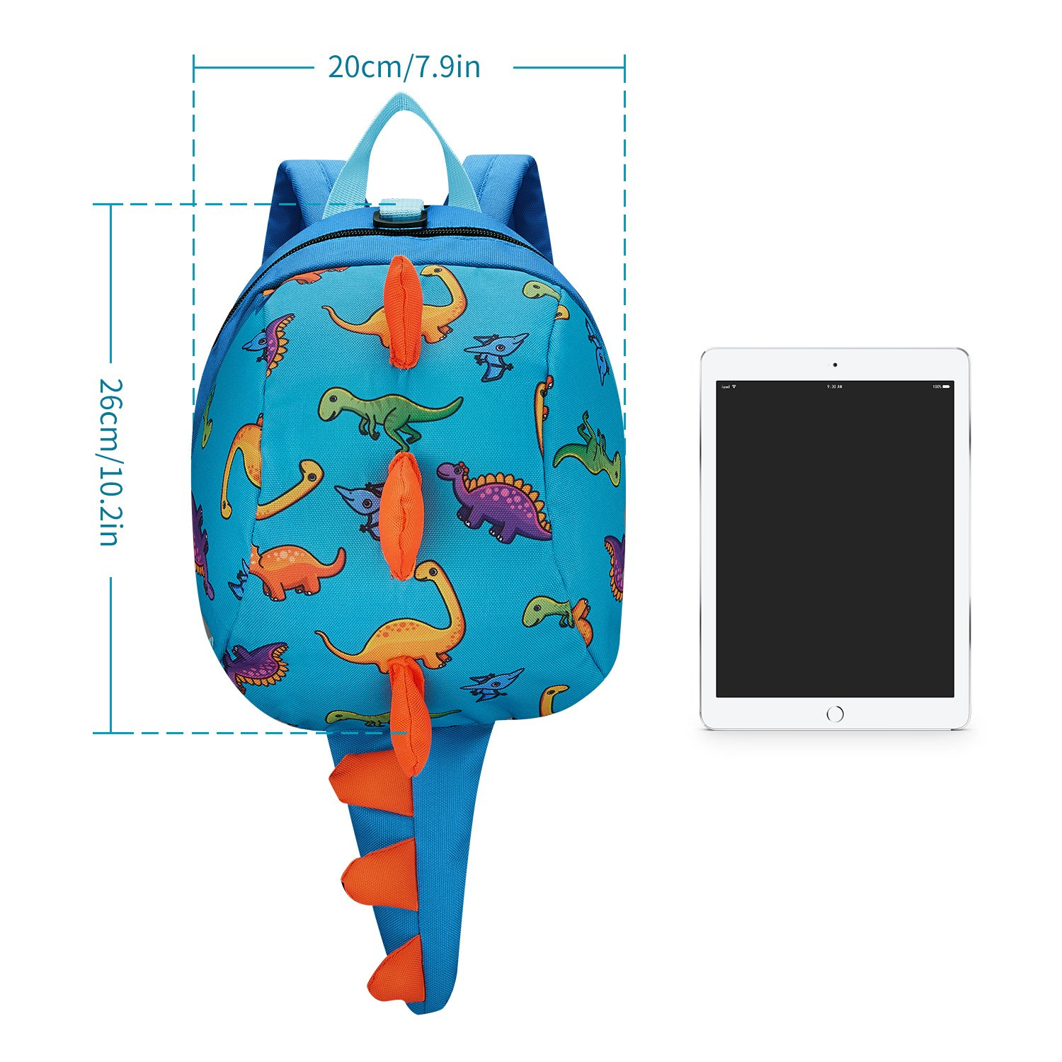 Amazon.com | Toddler Backpack 3D Schoolbag with Safety Harness Baby Boys Girls | Kids Backpacks