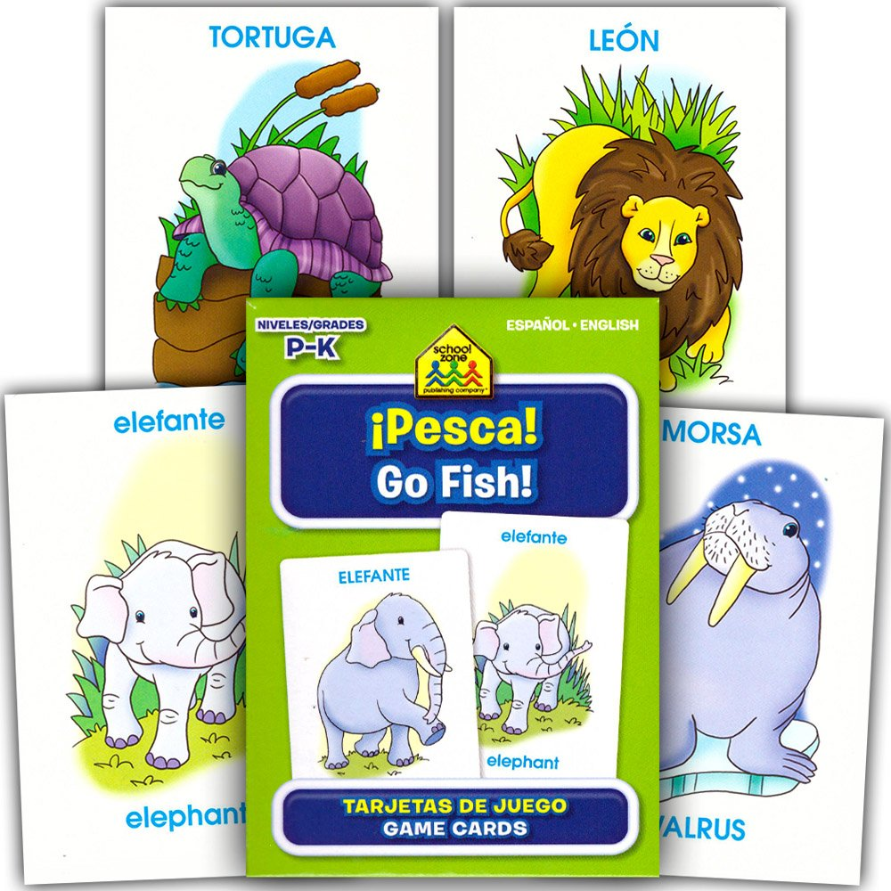 Amazon.com: School Zone Spanish Flash Cards Super Set Toddler Kids ...