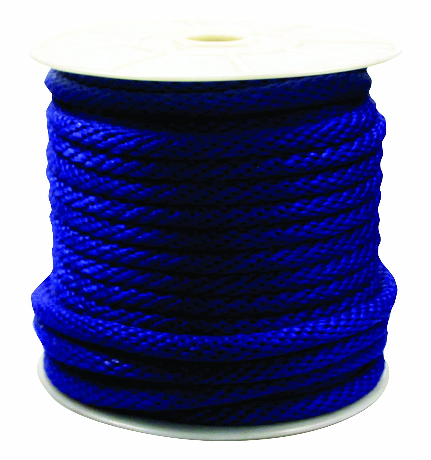Rope King SBP-58140B Solid Braided Poly Rope - Blue - 5/8 inch x 140 feet