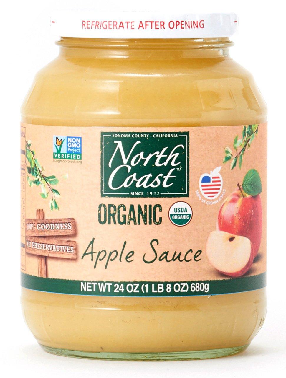 North Coast Apple Sauce Jar Organic, 24 oz (frozen) by North Coast