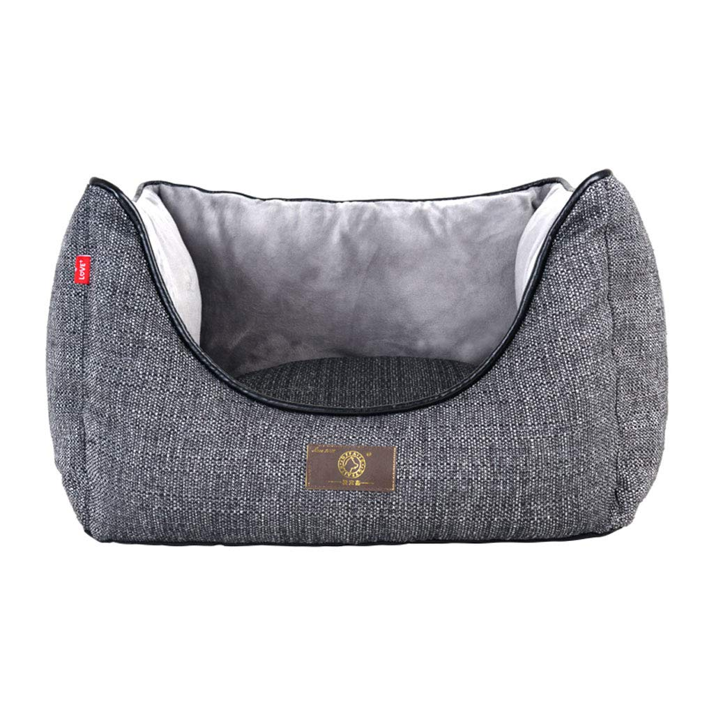 76x65x33cm PLDDY Dog Nest, Pet Beds, Dog Sofa, Removable, Breathable, Waterproof Oxford Pet Bed, Double Sides Usable,Small golden Retriever Large Dog Bed,Grey (Size   76x65x33cm)