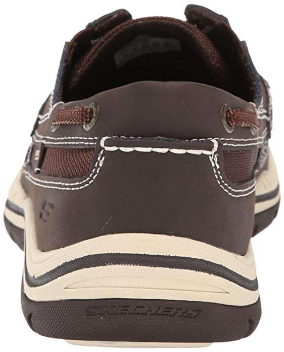 Skechers Relaxed Fit Expected Gembel, A collo basso uomo, Chocolate, 42