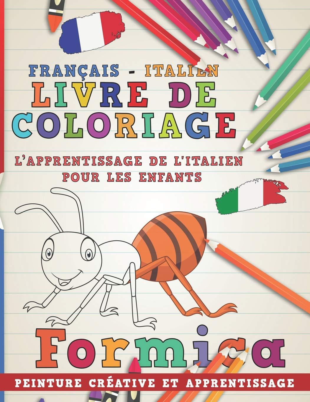 Livre De Coloriage Francais Italien I L Apprentissage De