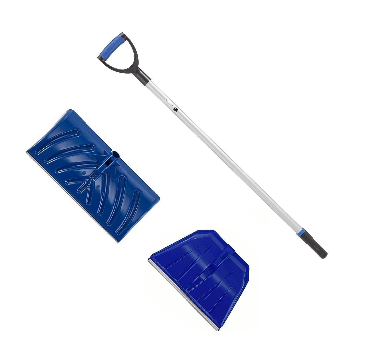 Conjunto reemplazable pala de nieve/empujador para palear o empujar nieve, suelos y granos (127 cm de longitud, hoja empujadora de 56 x 28 cm, pala de 48,5 x 32 cm) Inter Cooperation