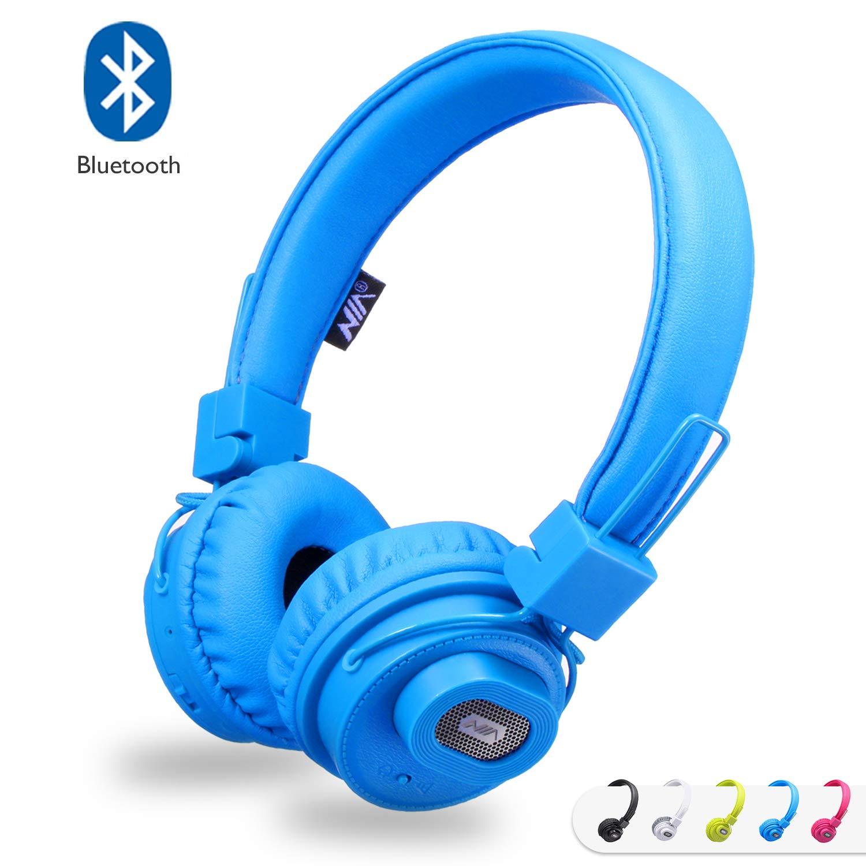 Auriculares Bluetooth con altavoz Bluetooth, auriculares estéreo recargables plegables en la oreja con micrófono incorporado para llamadas, compatible con ...
