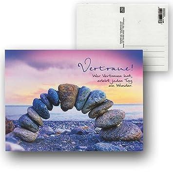 Cartolini Postkarte Karte Sprüche Zitate 15,5 X 11,5 Cm Vertraue Wer  Vertrauen