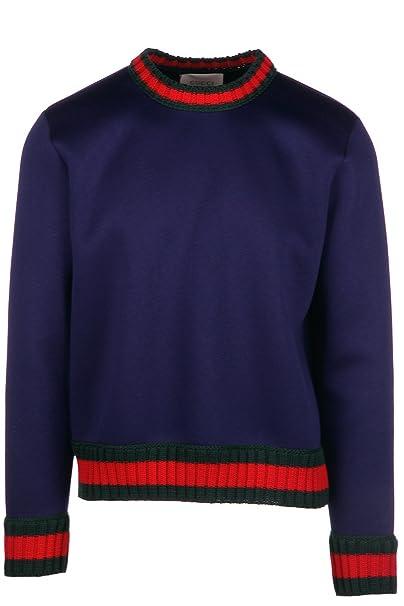 Gucci sudadera de hombre nuevo blu EU M (UK M) 408239 X6457 4190: Amazon.es: Ropa y accesorios
