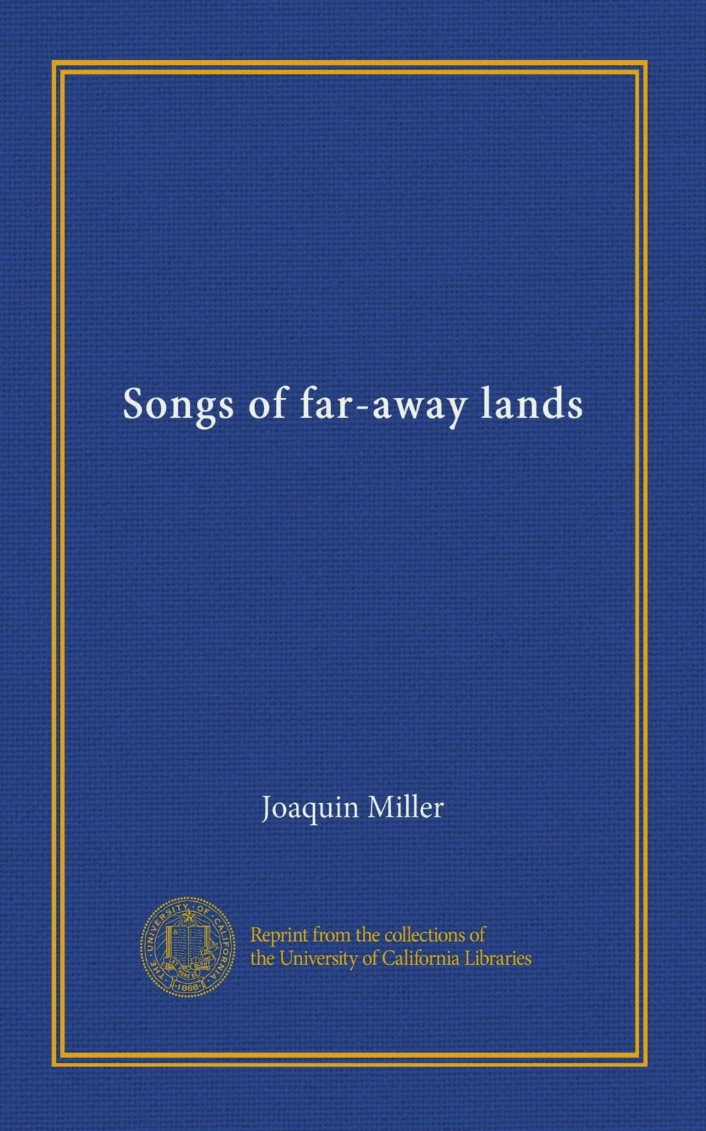 Songs of far-away lands pdf
