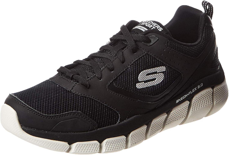 52844 BKW Skech Flex 3.0 Whiteshore Herren Sneaker Mesh Lederimitat