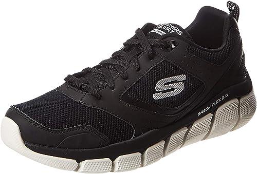 52844 BKW Skech Flex 3.0 Whiteshore Herren Sneaker Mesh hnYtq