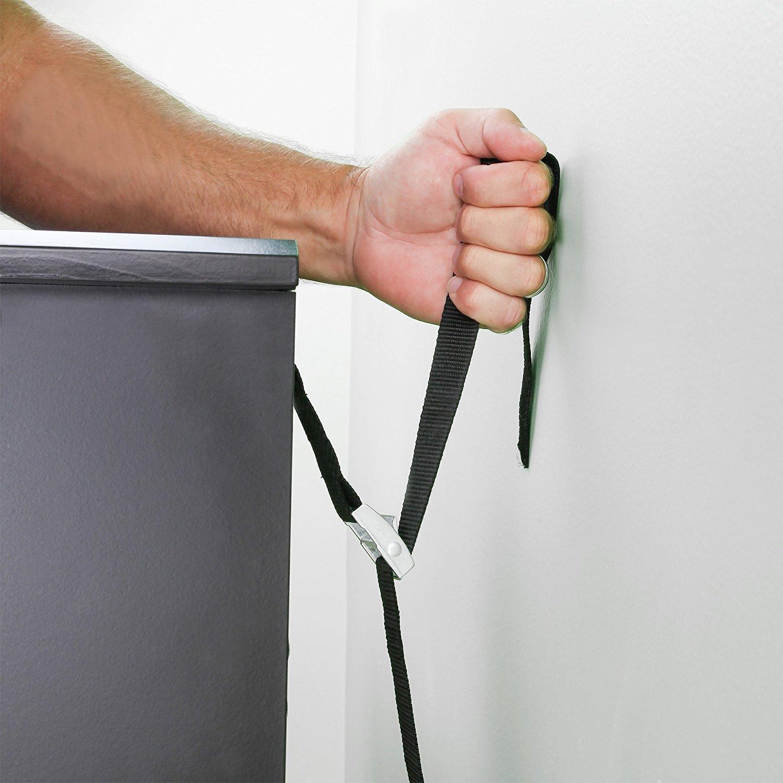 Metall-Anti-Tip TV Tr?ger 2 Satz, Schwarz Schrauben /& Hardware wird mitgeliefert