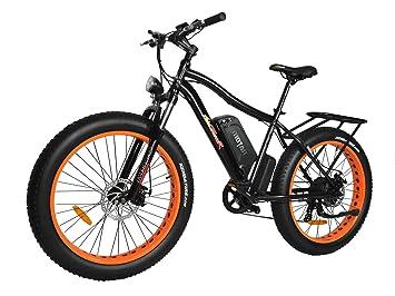 Addmotor MOTAN Gran Númatico Bicicleta Electrica 750W con Extraíble 48V 11.6AH Ion-Litio Batería
