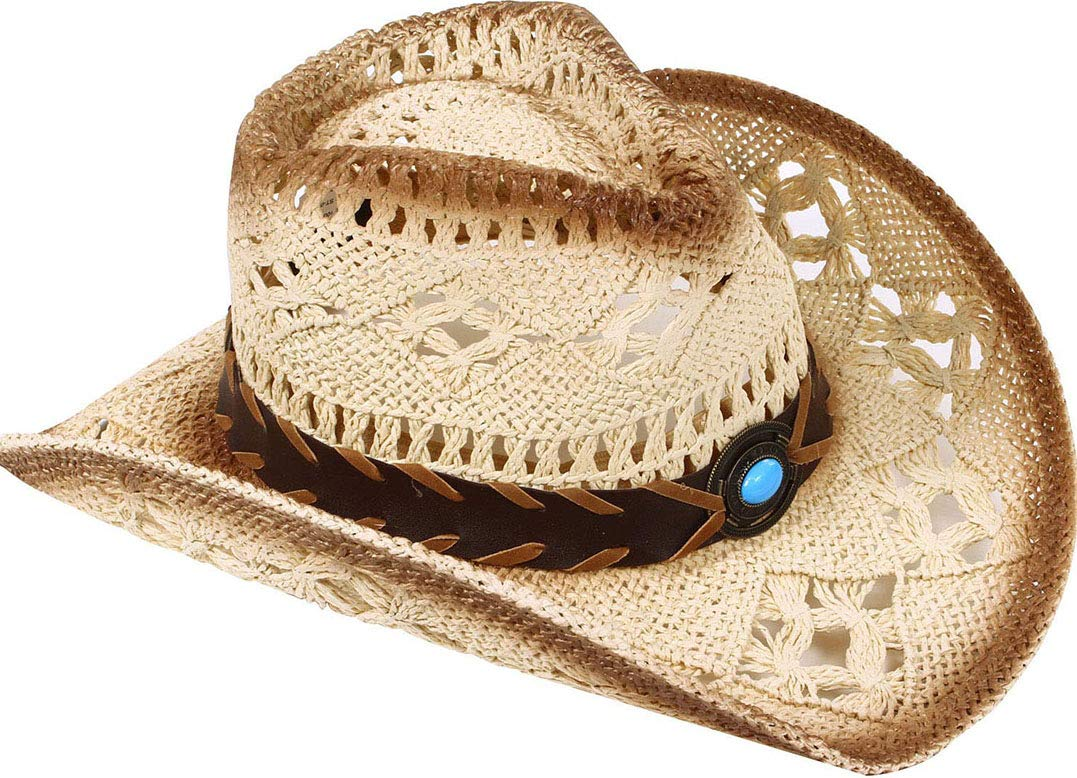 e6ba6e9f399 TAUT Unisex Woven Straw Cowboy Ranch Hat with Shapeable Brim product image
