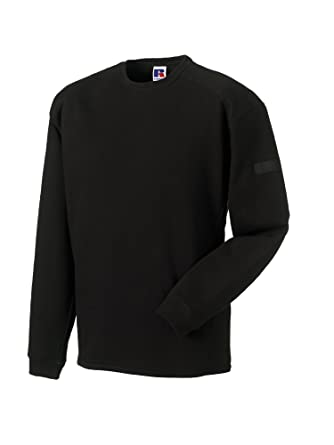 f76999cd33682 Russell Europe Heavy Duty Crew Neck Sweatshirt - Black - XS. Roll over  image to ...
