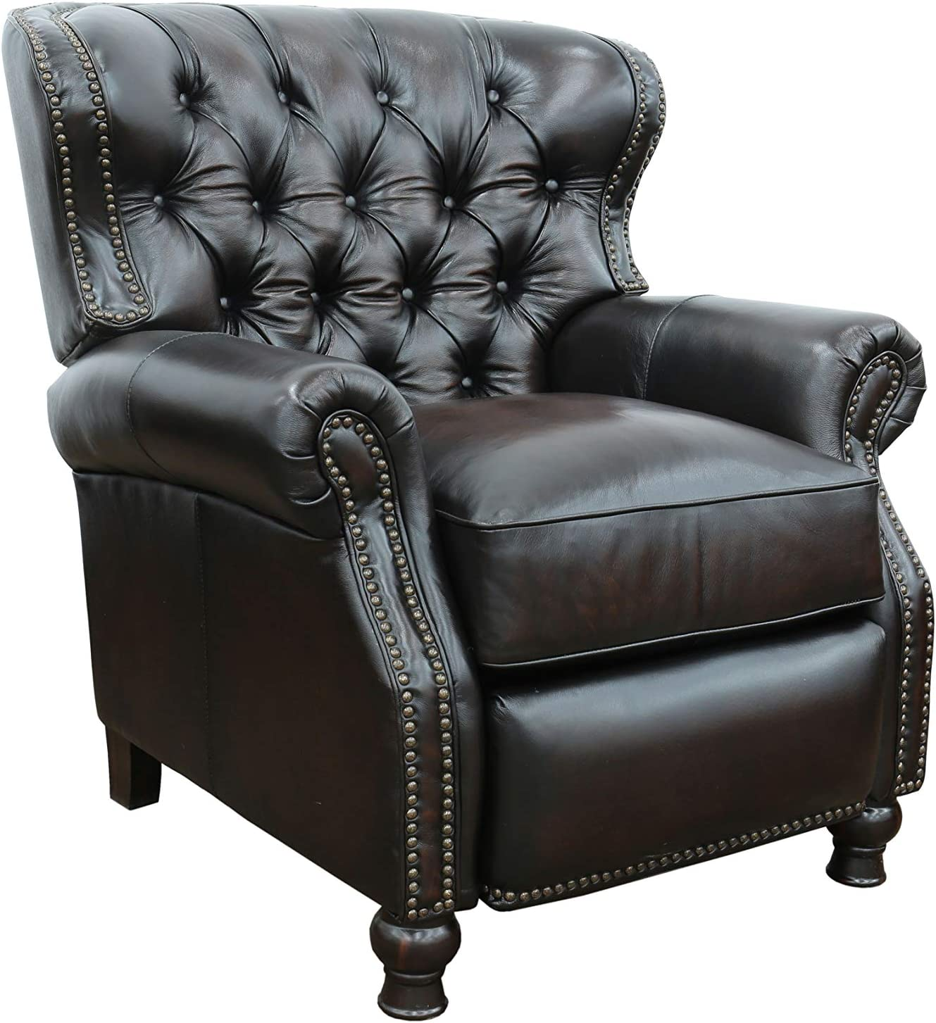 Amazon Com Presidential Ll Top Grain Leather Chair Manual Recliner By Barcalounger Furniture Decor