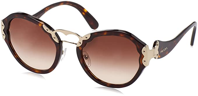 4ce4b77ab4 Image Unavailable. Image not available for. Colour  Prada Women s Gradient  PR09TS-2AU6S1-54 Brown Butterfly Sunglasses