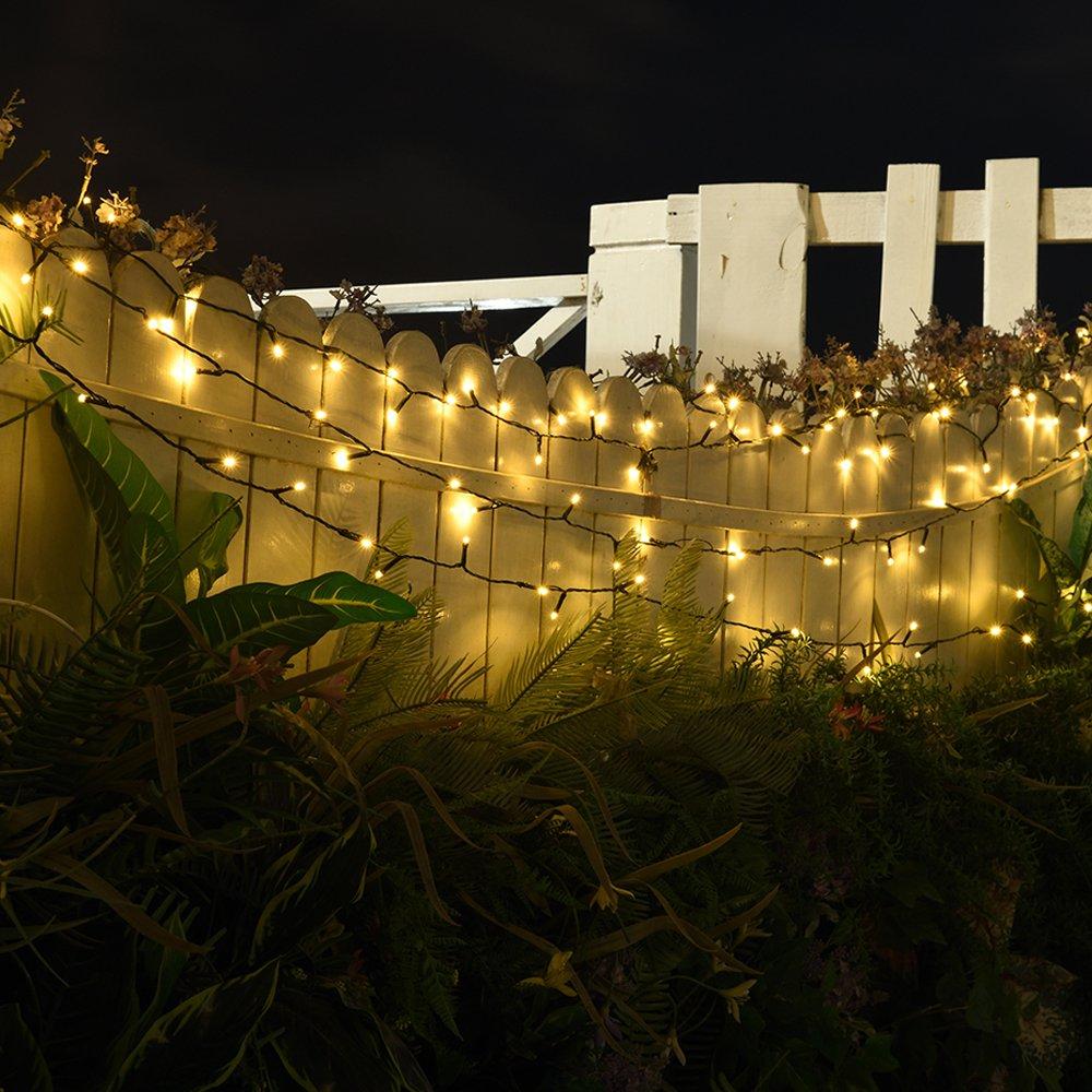 Amazon.com : LOENDE Solar String Lights Outdoor String Lights 72ft 8 ...