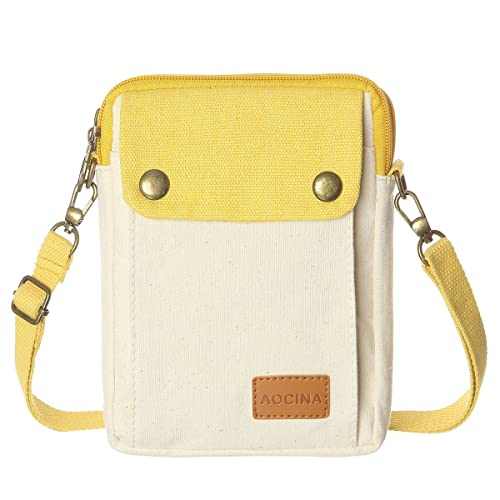 18359a7372 Cell Phone Purse Wallet Canvas Big Pocket Women Small Crossbody Purse Bags  (Beige)