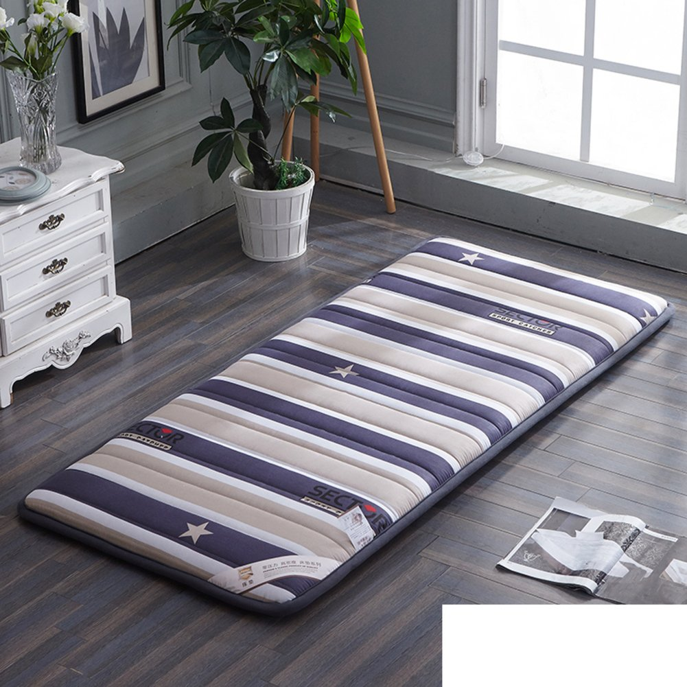 A 120x190cm(47x75inch) Plush Portable Folding Floor mat Thicken Tatami Mattress,Student [Dorm Room] Mattress Single Bed Floor [nap] [pad] [Cotton] Cushion Tatami mats Carpet-A 120x190cm(47x75inch)