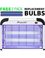 Aspectek 20W Electronic Bug Zapper, Insect Killer for RESIDENTIAL and COMMERCIAL use - Effective against Flies, Moths, Mosquitos, Cockroaches, Wasps, Beetles and Bugs - Kill insects!