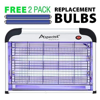 Aspectek Electronic Indoor Insect Killer Zapper 15 5 Inch 20W