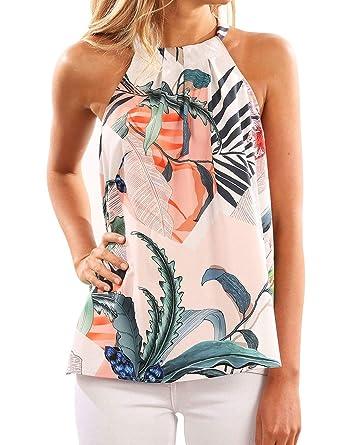 92558b58cd Women s Tees Summer Sleeveless V Neck Bandage Spaghetti Beachwear Camisole  T Shirt Vest Tank Tops(