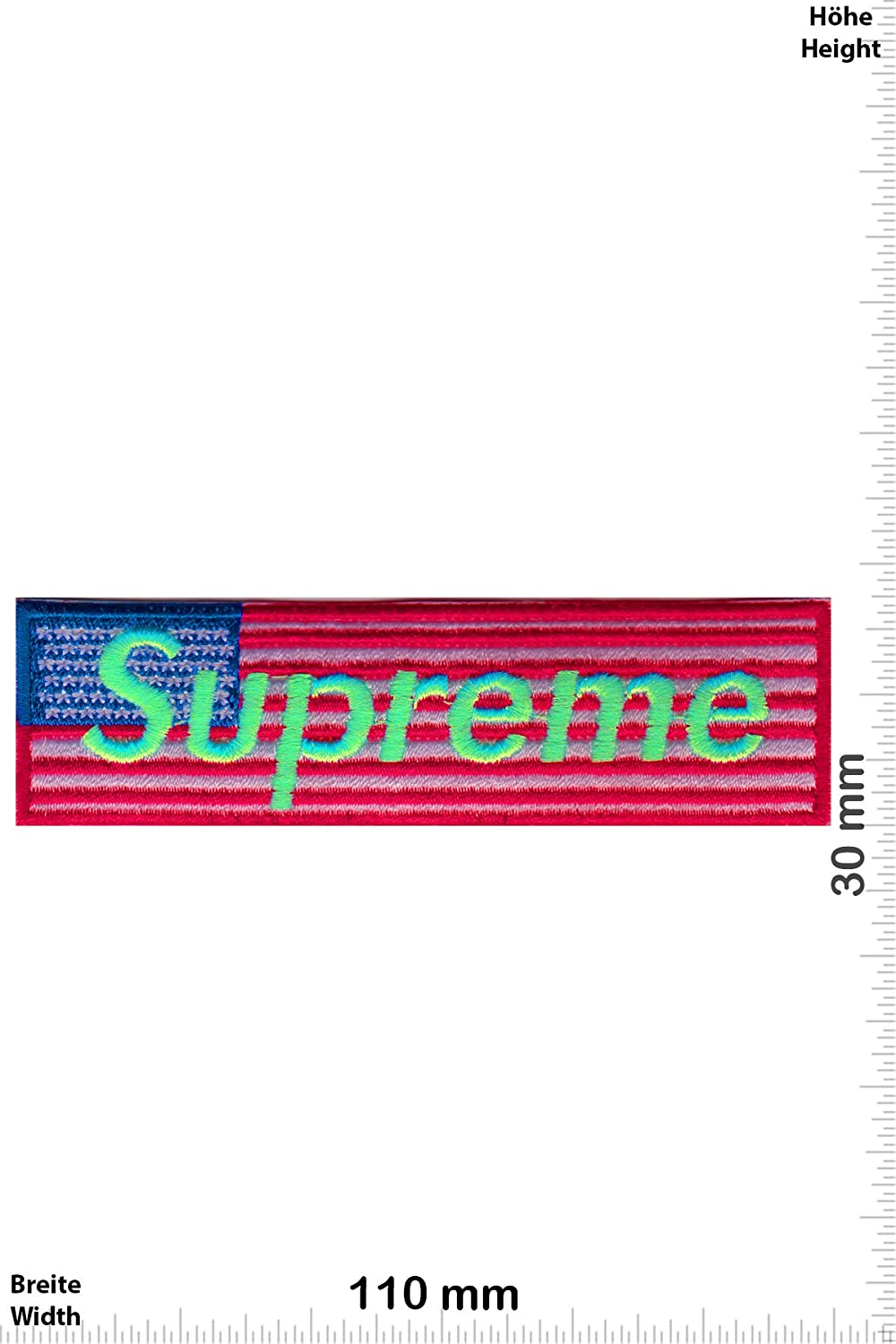 zum aufb/ügeln Supreme Cool Brands Supreme Neongreen USA Iron On Aufn/äher Cool Brands Patch