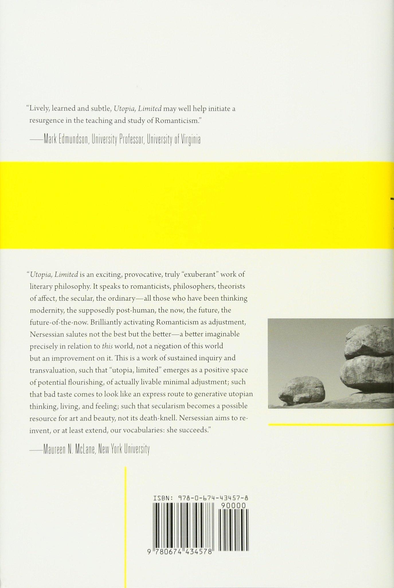 Amazon.com: Utopia, Limited: Romanticism and Adjustment (9780674434578):  Anahid Nersessian: Books